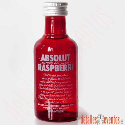Botellitas Mini botellas de Absolut Rasberri 5cl.